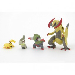 Pokemon - Axew to Haxorus Evolution + Pikachu - Plastic Kit - Bandai