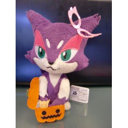 Pokemon Plush - BW N-013 - Purrlion Halloween - Peluche 20 cm