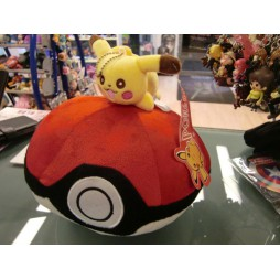 Pokemon Plush - Pokeball Pikachu - Peluche diametro - Peluche 24 cm