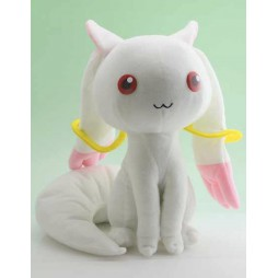 Puella Magi Madoka Magika Plush - The Innocent Malice Kyubey Plush - Peluche 20 cm