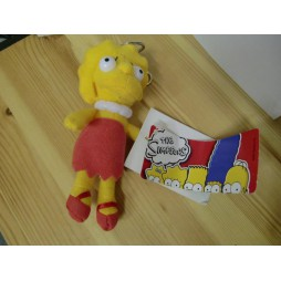 The Simpsons Plush - Peluche - Portachiavi - Simpsons Lisa - Peluche 17 cm