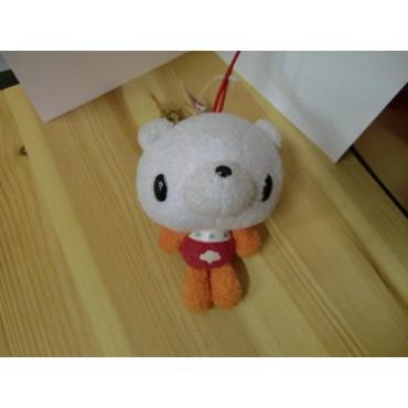 Gloomy Plush - Gloomy Mini Peluche Teddy Bear BIANCO - ROSSO/ARANCIO - Peluche 10 cm