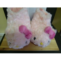 Hello Kitty Plush - Pantofole Peluche - Hello Kitty Rosa - Peluche 30 cm