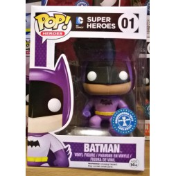 POP! Heroes 001 DC Comics Super Heroes Batman Purple Rainbow Colour Underground Toys Exclusive 4-inch Vinyl Deformed Fig