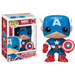 POP! Marvel 006 Captain America - Vinyl Bobble-Head Figure