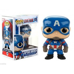 POP! Marvel 125 Captain America Civil War Captain America Vinyl Bobble-Head Figure