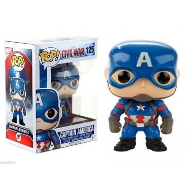 POP! Marvel 125 Captain America Civil War Captain America Vinyl Bobble-Head Figure