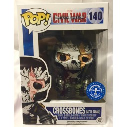 POP! Marvel 125 Captain America Civil War Crossbones [Battle Damage] Underground Toys Exclusive Vinyl Bobble-Head Figure