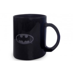 DC Comics - Batman - Tazza Vetro - Mug Cup - LOGO BLACK TRANSLUCENT