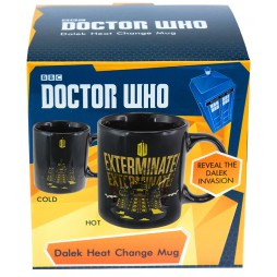 Doctor Who - Tazza - Mug Cup - DALEK Exterminate! - Heat Change Ceramic Mug
