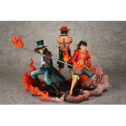 One Piece - DX Figure - Brotherhood Figure - Luffy + Sabo + Ace - SET