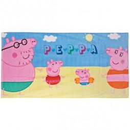 Peppa Pig - Famiglia Pig In Spiaggia - Asciugamano