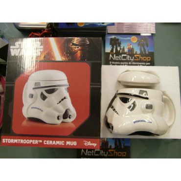 Star Wars - Tazza - Mug Cup - Ceramic 3D Character Sculpt - Stormtrooper - Ceramic 3D Character Sculpt - Con Coperchio