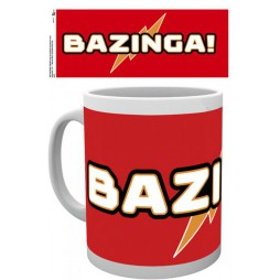 The Big Bang Theory - Tazza - Mug Cup - Bazinga White on Red