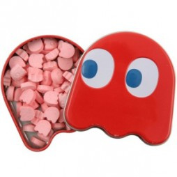 Video Games - Pac-Man - Tin BonBon BOX - Contenitore Per Caramelle in Latta - Fantasma Rosso