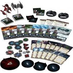 X-WING: Veterani Imperiali - Pack di Espansione contenente 1 miniatura dei caccia TIE Defender e del Bombardiere TIE