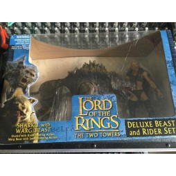 Lord of the Rings The Two Towers - Il Signore degli Anelli - Deluxe Beast and Rider Set (Knife Slashing Action, Warg G