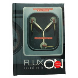 Back To The Future - Ritorno al Futuro - Light Up Notebook - Delorean - Flux Capacitor - Flusso Capacitore Si Illumina