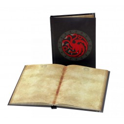 Game Of Thrones - Il Trono Di Spade - Light Up Notebook - Targaryen Crest Si Illumina