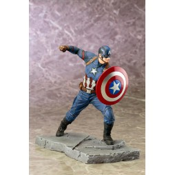 Capitan America - Civil War Movie - Kotobukiya ArtFX+ 1/10 scale Statue - Pro Painted Model - Captain America
