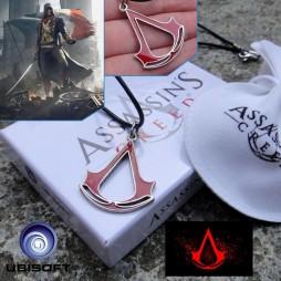 Assassin's Creed - Unity - Ciondolo Crest Smalto Rosso - Laccetto