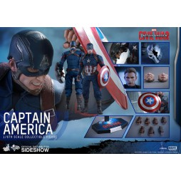 Captain America Civil War Movie Masterpiece Action Figure 1/6 Captain America Hot Toys