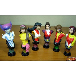 Dynamic Heroines Block - Trading Figure Blind Box Bust SET - Complete 5+1 S.S. Bust Set