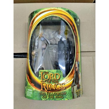 Lord of the Rings The Fellowship Of The Ring - Il Signore degli Anelli - Saruman (Slashing Action, Horn Action, Shield