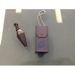 Naruto - Keyring - 3D Plastic - Mini Kunai/Penna con Fodero