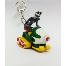 Nightmare Before Christmas - Pull Back Key Chain & Strap - Jack Skellington Sledge - Loose