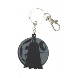 Star Wars Rogue One: A Star Wars Story - Keyring 2D - Rubber - Darth Vader and Death Star