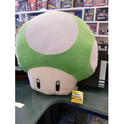 Super Mario Series Plush - Pillow - Mushroom 1 UP Green - Mario Party- Cuscino - Peluche 36 cm