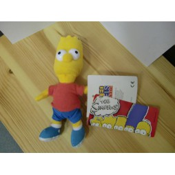 The Simpsons Plush - Peluche - Portachiavi - Simpsons Bart - Peluche 17 cm