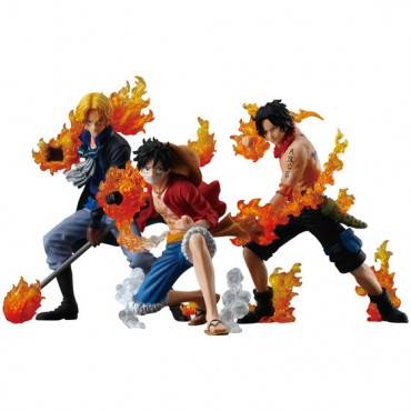 One Piece - ONE PIECE ATTACK STYLING Honoo no Sankyoudai - Trading Figure SET - Complete SET of 3