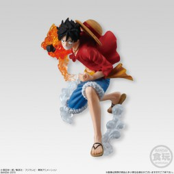 One Piece - ONE PIECE ATTACK STYLING Honoo no Sankyoudai - Trading Figure SET - Monkey D. Luffy