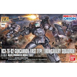 HG Gundam The Origin 011 - RCX-76-02 Guncannon First Type (Iron Cavalry Squadron) E.F.S.F. MASS-PRODUCED MOBILE SUIT 1/1
