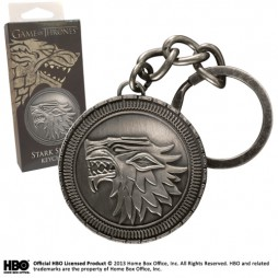 Game Of Thrones - Il Trono di Spade - Keyring 3D - Metal - Portachiavi - Stark Shield - Keyring