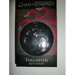 Game Of Thrones - Il Trono di Spade - Keyring 3D - Metal - Portachiavi - Targaryen Symbol - Keychain