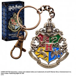 Harry Potter - Keychain - Hogwarts Crest - Portachiavi Keychain 3D Metallo
