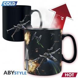 Star Wars - Tazza - Mug Cup - Rogue One - X-Wing Space Battle - Heat Change Ceramic Mug