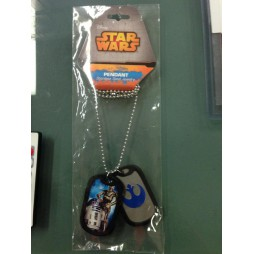 Star Wars - Collana - Stainless Steel Metal and Rubber - R2-D2 C3-PO/Rebel Logo - Dog Tag