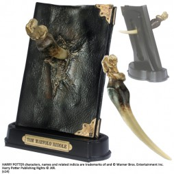 HARRY POTTER - 1:1 Movie Prop Replica - Tom Riddle Diary With Basilisk Fang Horcrux - Diario Di Tom Riddle Con Zanna Di