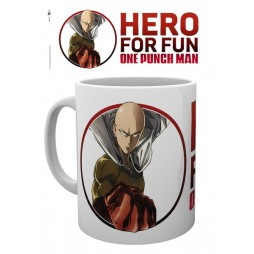 One Punch Man - Tazza - Mug Cup - Hero For Fun Saitama - 300 Ml