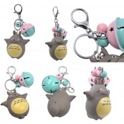 Il mio Vicino Totoro - My Neighbour Totoro - Portachiavi 3D - Keyring - Totoro Con Sonaglini