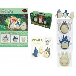 Il Mio Vicino Totoro - My Neighbour Totoro - Totoro Mini Dancing 3 Figure Set - Mini Diorama Componibile