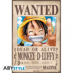 One Piece - Poster - Wanted Luffy - 52x35 cm