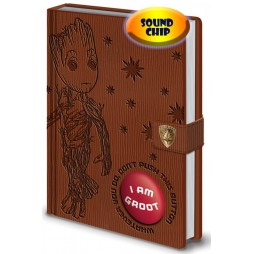 Guardians Of The Galaxy Vol.2 - Light and Sound Notebook - Do Not Push This Button! I Am Groot