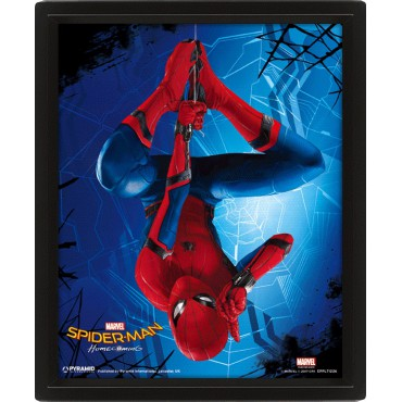 Poster 3D Lenticolare - Marvel Comics - Spider-Man Homecoming - Poster - Opside Down Spider-Man