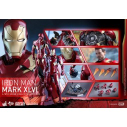 Captain America Civil War Movie Masterpiece Action Figure 1/6 Iron Man Mark XLVI Die Cast Hot Toys