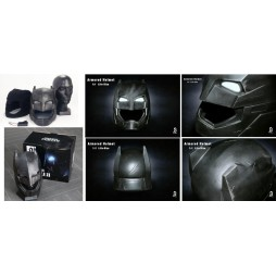 Dc Comics - Batman Vs. Superman D.O.J. - 1/1 SCALE Armored Batman Battle Damaged Helmet/Cowl - BreToys